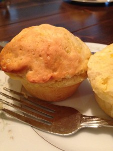 Chicken Pot Pie Muffin made from a biscuit