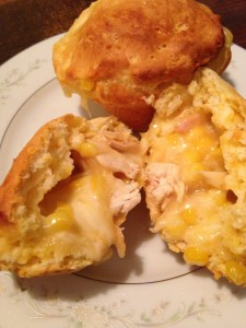 Chicken Pot Pie Muffin from biscuits
