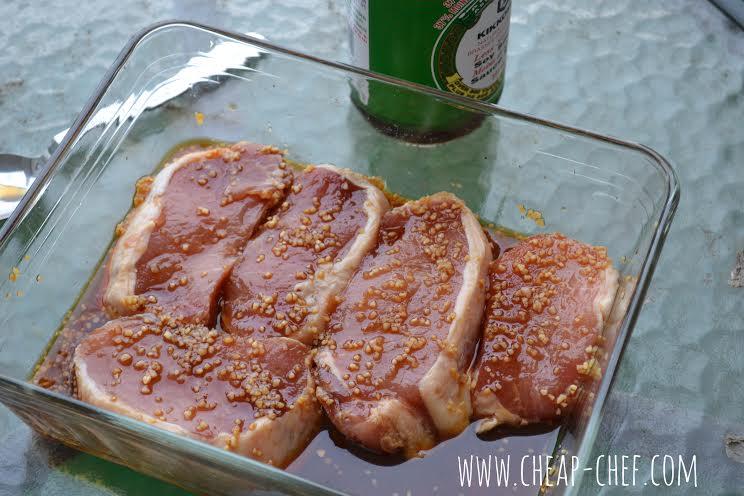 4 Ingredient Honey Garlic Pork Chops