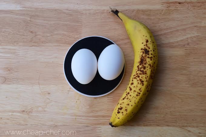2 Ingredient Banana Pancake Ingredients