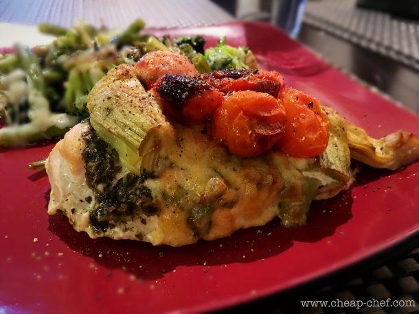 Chicken with Pesto and Artichokes